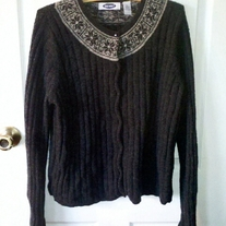 Old Navy Grey Lambswool Sweater XL