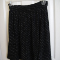 Joe Benbasset Black Polka Dot Skirt L