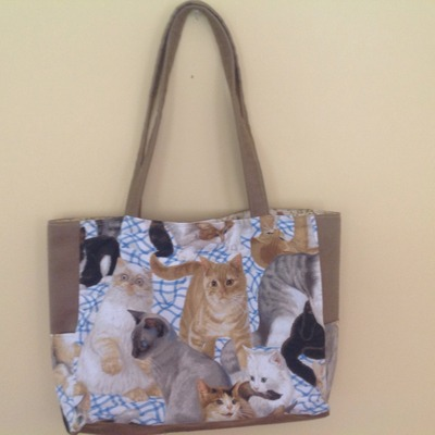 Kitty cats all over bag!