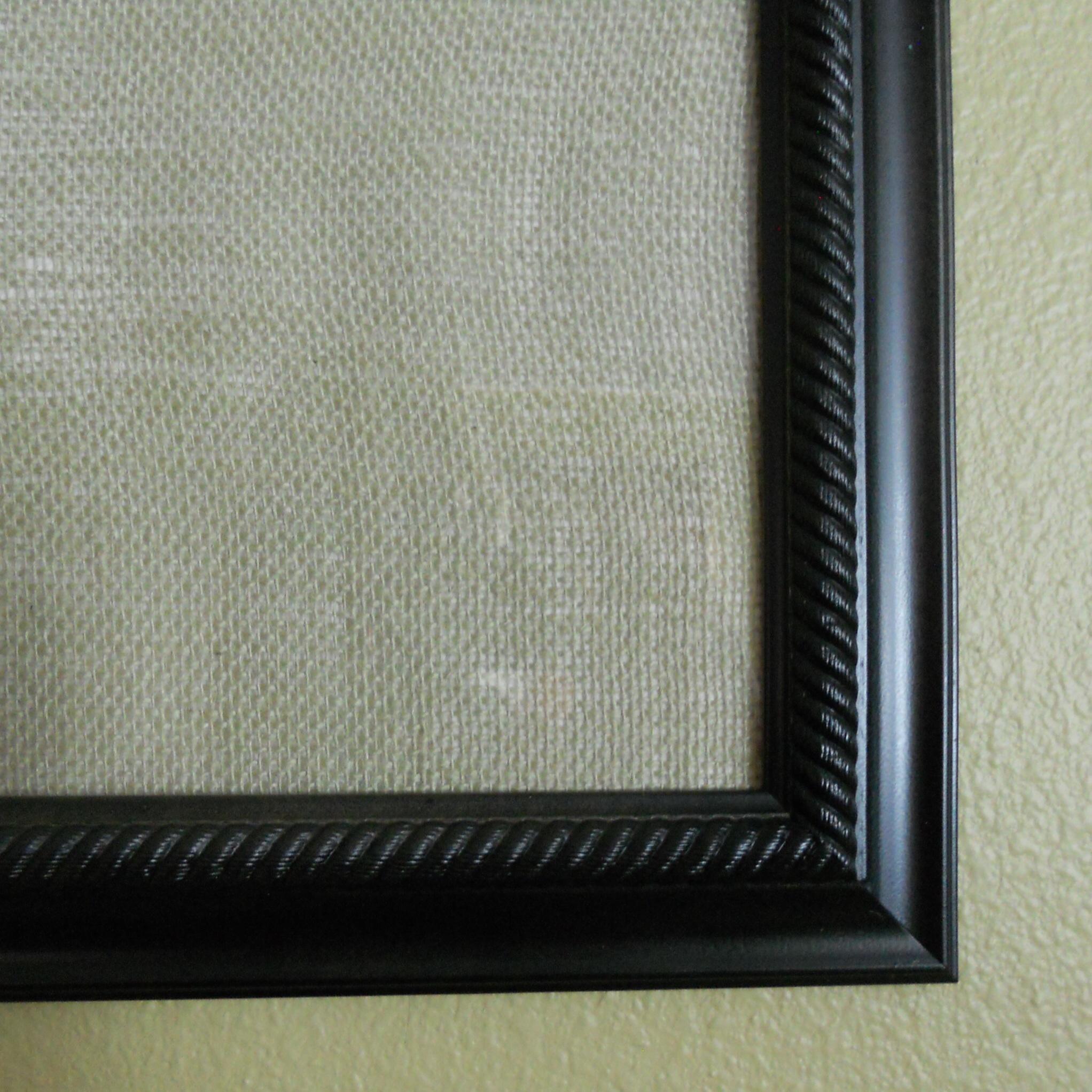 Framed Dry Erase Board Black Framed Dry Erase Board With Burlap Background And Paper