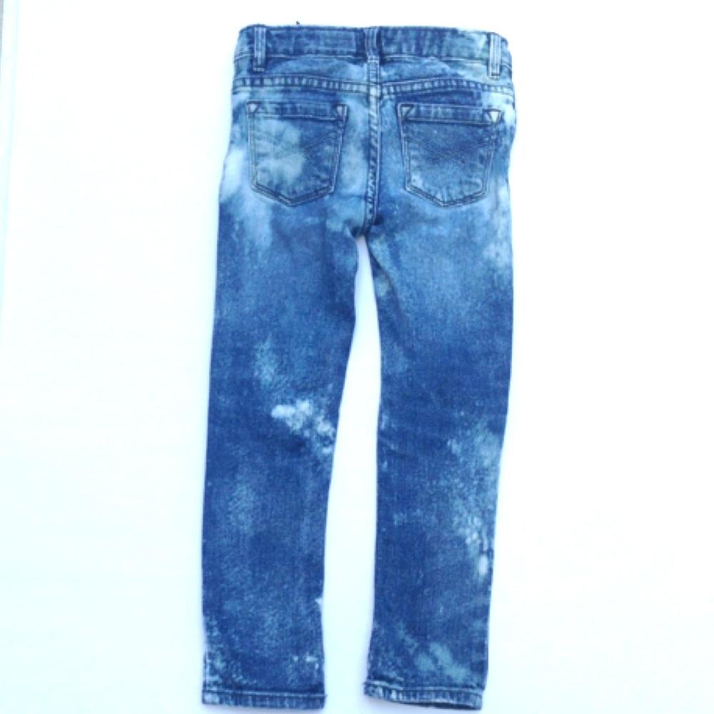 Custom Made To Order Distressed Denim Skinny Pants