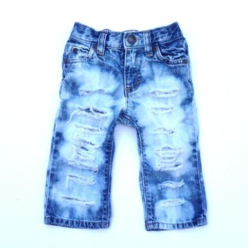 Custom Distressed Denim Pants Baby Destroyed Jeans