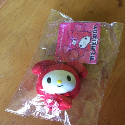 Rare my melody in plushy hat squishy