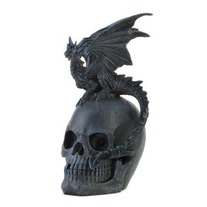 Gothic Dragon And Skull Statue