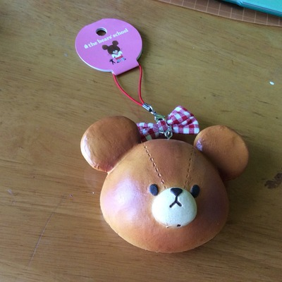 Original bear school bun squishy