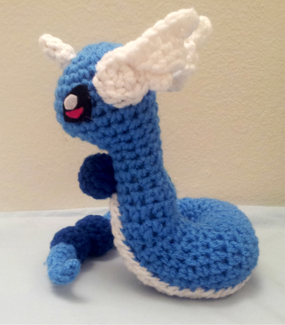 Dragonair Inspired Crochet Amigurumi Doll - Stuffed/Plush ...
