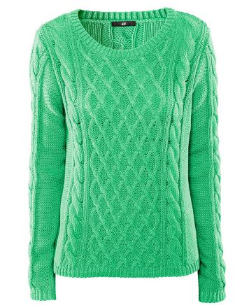 Mint Green Cable Knit Sweater Milky Galaxy Online Store Powered