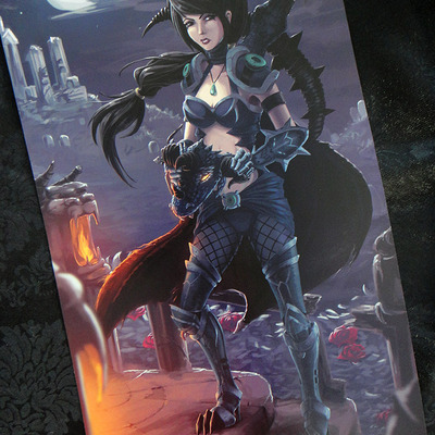 "Dragonslayer vayne: 11""x17"" poster"