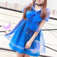 Dreamy Sailor Moon Organza Sailor Collar OP Dress SP141133 - Thumbnail 1