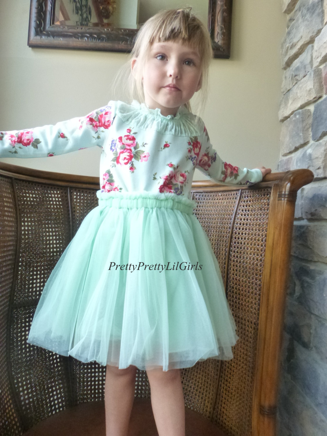 Mint Dress Baby Girl Dress Flower Girl Dress Girls Lace Dress
