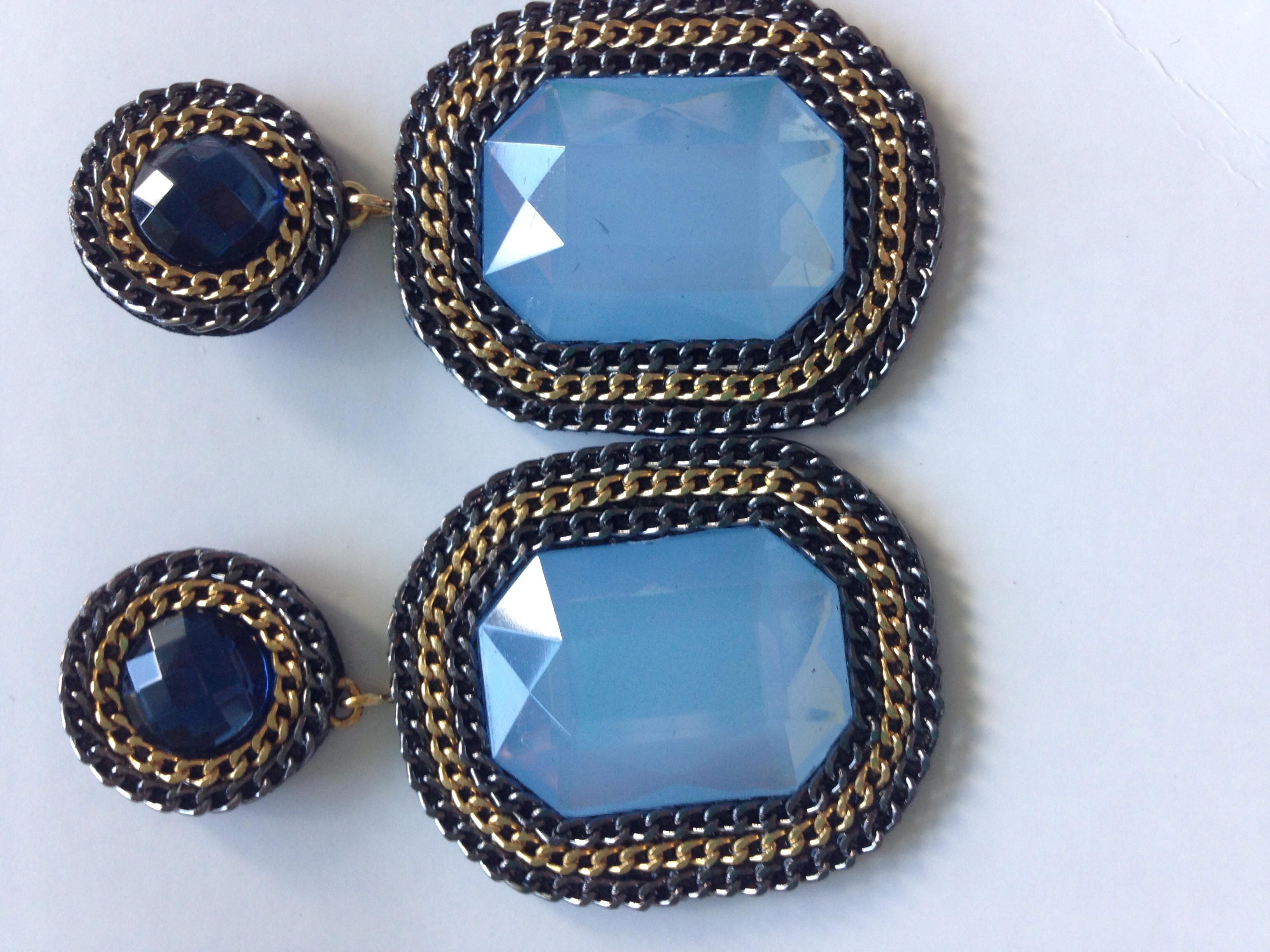 Blue Topaz Maxi Earrings · The Original Brazilian Shop ...