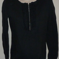Black Long Sleeve Shirt-Liz Lange Maternity Size XS  CLTE2