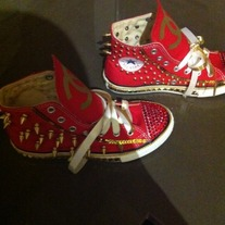 Custom Chucks (CC) OR Name Your KITTY  Big Kids/Adults Sizes 4-7
