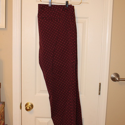 Polka dot ankle pants-loft size 18