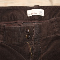 Old Navy Wide Leg Corduroy Trousers