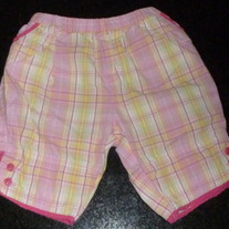 Pink/Yellow Plaid Capris-The Children's Place Size 3-6 Months