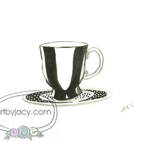 """The Posh Cup"" Matte Print Watercolor Vintage Illustration"