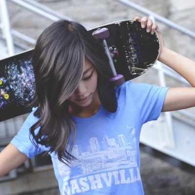 Nashville skyline (blue) - 40% off!