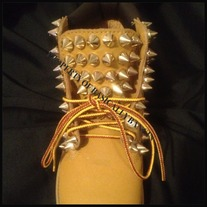 ALL SPIKED TIMBERLANDS (ADULT SIZES 6.5-7)