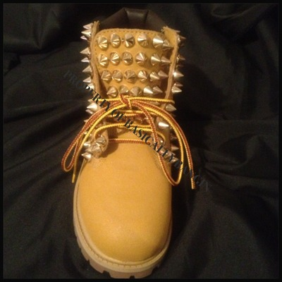 Customized Timberlands With Spikes 155 00 All Spiked Timberlands