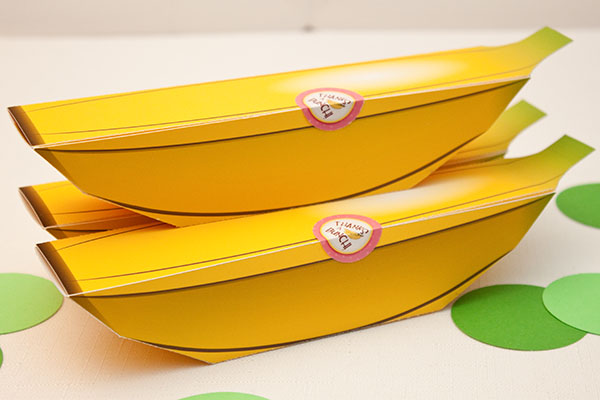 banana favor box diy printable piggy bank parties