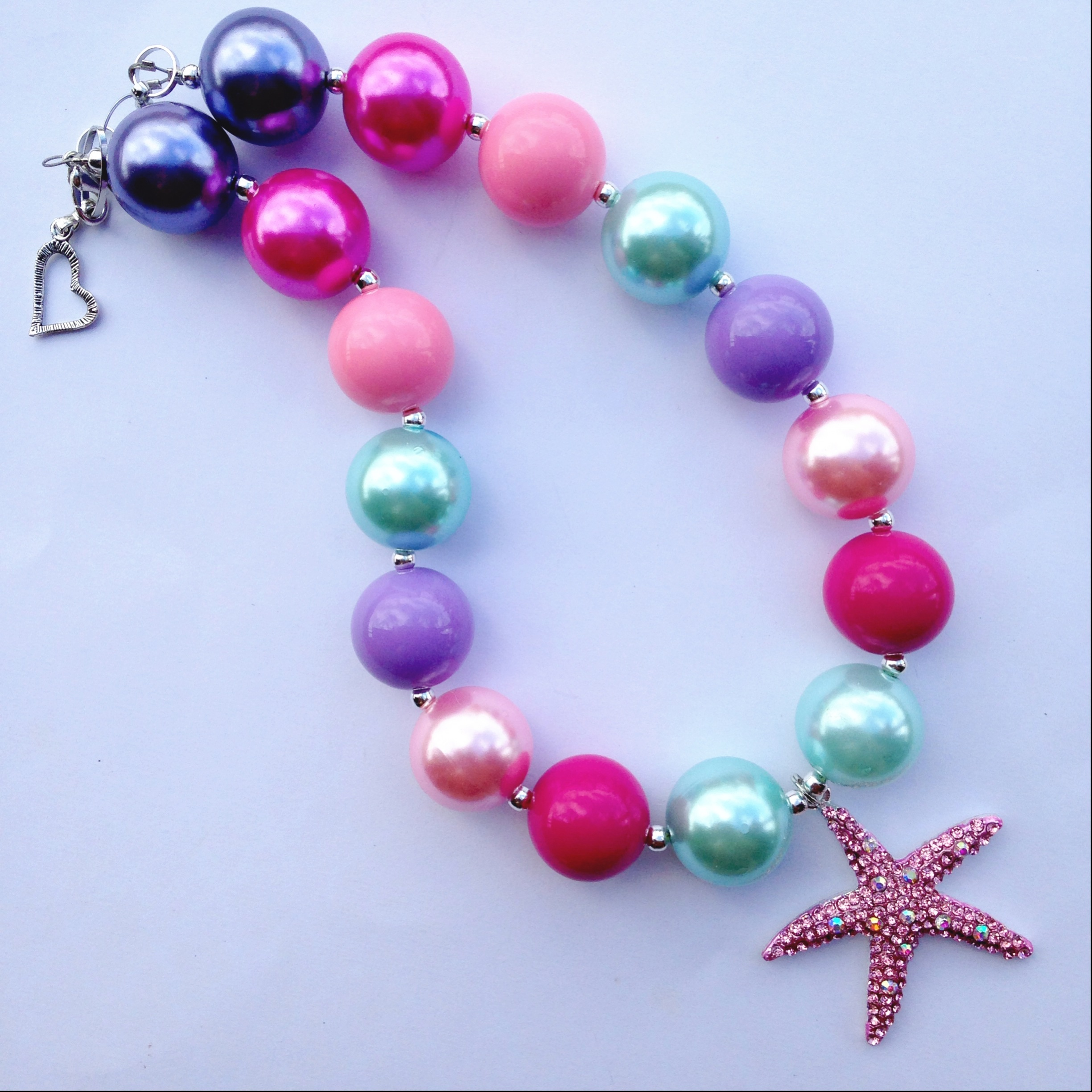 image bright chunky here necklaces original collections colorful necklace products full love blooms bead starfish