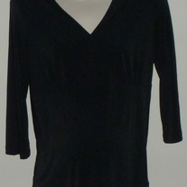 Black 3/4 Sleeve Length Top-NEW-New Additions Maternity Size Small