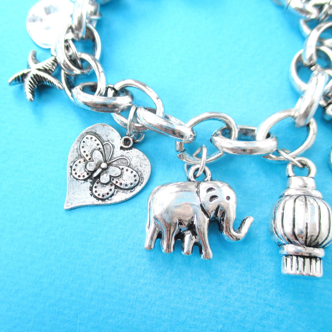 charm beaded bracelet elephant c shop artisan accessories handmade