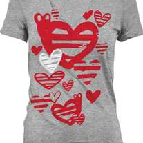 Simply Love, Unisex V-Neck - Large