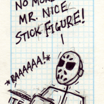 Sketch Card: Chainsaw Intermission
