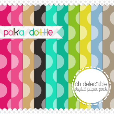 Polka dottie digital paper pack
