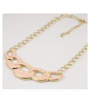 Pink chain necklace