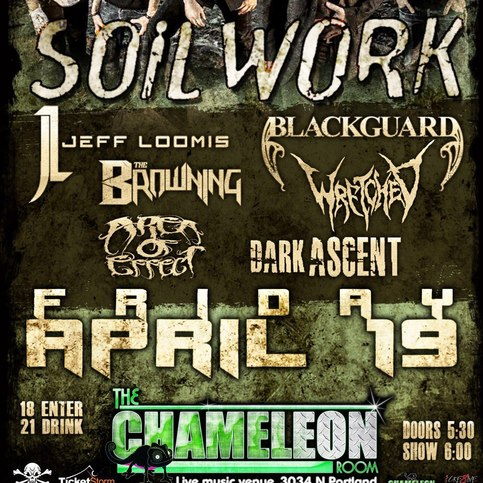 Dark Ascent opening for Soilwork - April 19th @ The Chameleon Room