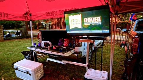 tailgating tv stand on storenvy