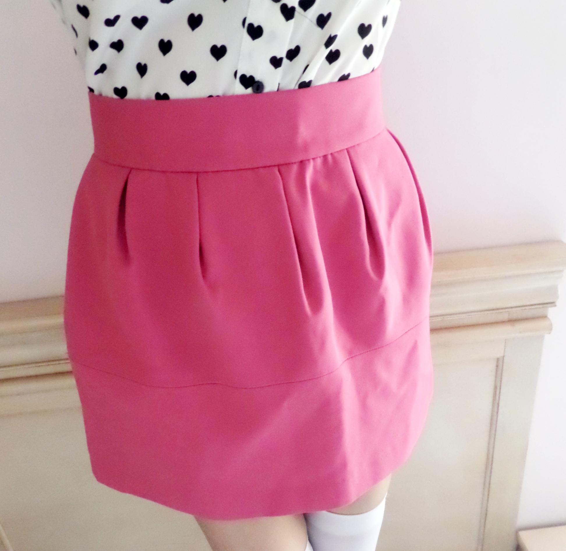 pink high waisted skirt 183 pastel wardrobe 183