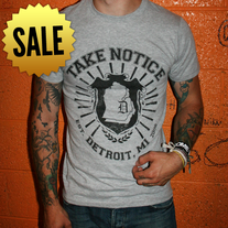 TEE | Take Notice Emblem (Gray) *SALE*