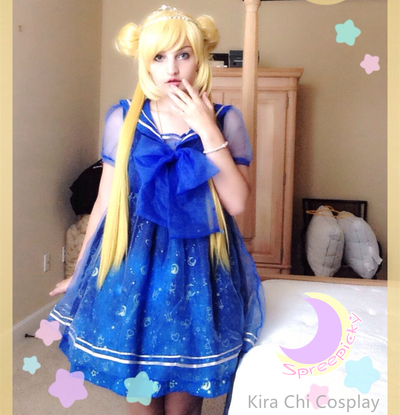 Dreamy Sailor Moon Organza Sailor Collar OP Dress SP141133