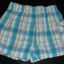 Blue/Yellow/White Plaid Shorts-Granimals Size 0-3 Months