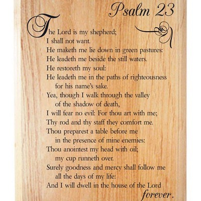 Psalm 23 wood plaque
