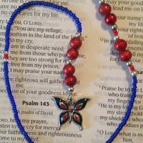 Patriotic Butterfly Beaded Bookmark