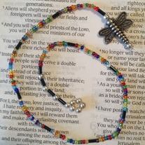 Rainbow Dragonfly Beaded Bookmark