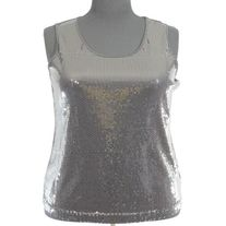 Notations Black Sequin Front Tank Top