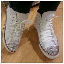 Crystal tipped Chucks (Big kids/adults sizes 4-7)