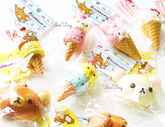 Very Small Squishy Collection : Rare Rilakkuma Double Scoop Icecream Squishy (Licensed) ? Uber Tiny ? Online Store Powered by ...