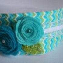 """Chevron Garden"" Original headband"