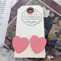Wood Heart Earrings *Available in other colors