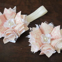 Rose and Cream Vintage headband