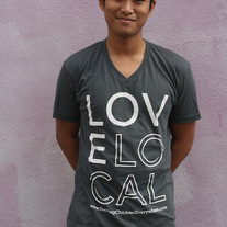 """Love Local"" - Unisex Gray V Neck"