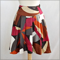 Multi-Colored Satiny Skirt