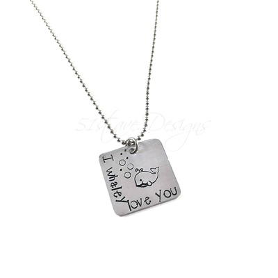 I whaley love you square pendant